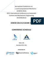 ICMCM2012 Conference Schedule