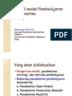Model-Model Pembelajaran Matematika Al Jupri