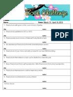 Spring Book Challenge