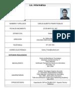 Curriculum Vitae - Lic. Carlos Fraire