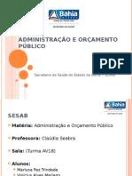 Administração e Orçamento Público_Trabalho 02_Apresentação