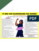 Locandina 8 marzo verso lo sciopero delle donne