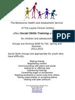 Social Skills Flyer 2012-2013
