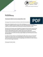 20130125 Pressemitteilung Piratenpartei Wallis Ohne Grossratskandidatur 2013