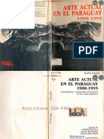ARTE ACTUAL DEL PARAGUAY 1900 a 1995 - JOSEFINA PLÁ - OLGA BLINDER - TICIO ESCOBAR - PORTALGUARANI