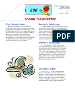 1st Grade March Newsletter