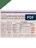 Las transferencias interbancarias pueden crecer más en el segmento C