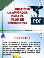 Conformacion de Brigadas Para El Plan de Emergencia