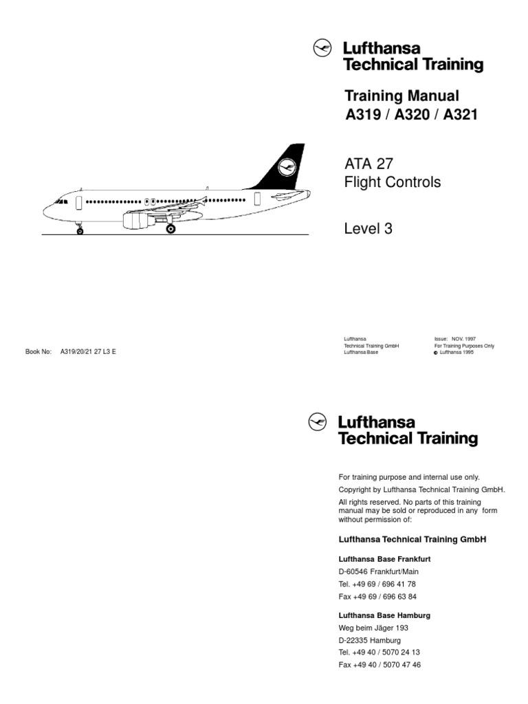 airbus a319 a321 dlh training manual ata 27 flight controls level rh es scribd com Airbus 319 American Airlines Airbus A319 First Class