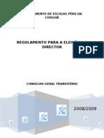 Regulamento Eleição Director Aprovado