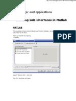 Designing GUI in Matlab