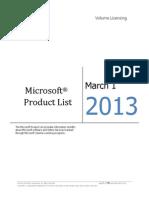 MicrosoftProductList(Worldwide)(English)(March2013)(CR)