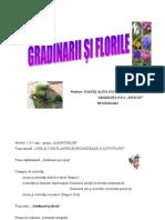 Proiect Gradinarii Si Florile