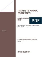 Trends in Atomic Properties - Electron Affinity