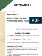 MATEMATICA II.CASI.MOD 2.CONT.5.FUNCIÓN POLINOMIO Y VECTORES EN EL PLANO