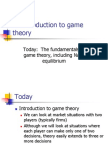 Econ 1 Game Theory