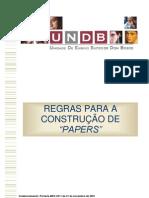REGRAS PARA A CONSTRUÇÃO DE PAPERS
