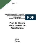 Plan de Mejora Carrera Arquitectura