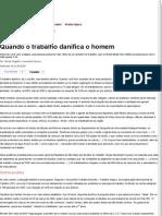 Quando o trabalho danifica o homem — Rede Brasil Atual