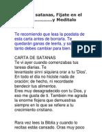Carta de Satanas
