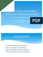 Materia Prima(Lacteos)