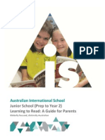 ais junior school parent reading guide