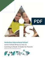 ais junior school parent reading guide