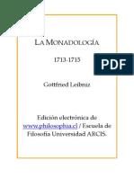 Gottfried Leibniz - Monadología