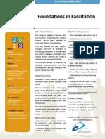 foundations facilitation
