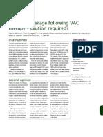 Intestinal leakage following VAC therapy - Ed Fitzgerald - Surgeons News