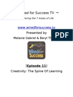 Creativity the Spine of Learning [Episode 11] Wired for Success TV