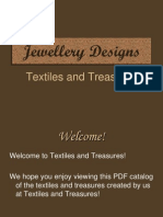 Jewellery Designs Textiles and Treasures