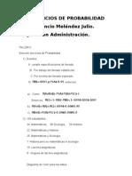 Inocencio Meléndez Julio. Ejercicios de Probabilidad.