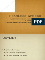 Fearless Speech  -Michel Foucault