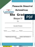 6to Grado - Bloque 4 - Matemáticas