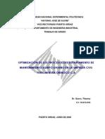 Optimizacion de Procesos Mantenimiento Equipo Liviano