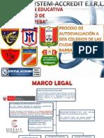 Proceso Autoevaluación en 6 Colegios Públicos de la Región Lima Provincias