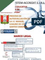 Proceso Autoevaluación en Colegio Manuel Ildauro de los Santos Camones