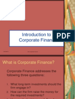 Intro to Corp.fin.