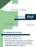Presentacion Porta Fidei