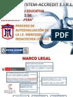 Proceso Autoevaluación en Colegio Mercedes Indacochea Lozano