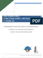 Ensayo Racionalismo, Funcionalismo, Archigram y Team 10