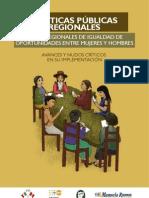 103609417 Politicas Publicas Regionales Planes Regionales de Igualdad de Oportunidades Entre Mujeres y Hombres Avances y Nudos Criticos en Su Implementacion