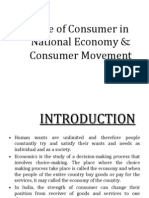 Role of Consumer in National Economy & Consumer Movement