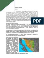 Características Generales de Sonora