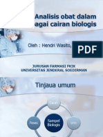 Analisis Obat Dalam Berbagai Cairan Biologis
