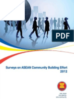 Surveys on ASEAN Community Building Effort 2012