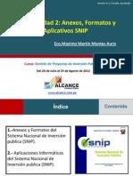 Aplicativos Anexos y Formatos SNIP