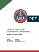 Colorado Amendment 64 Taskforce Final Report
