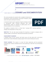 Export Procedures and Documentation